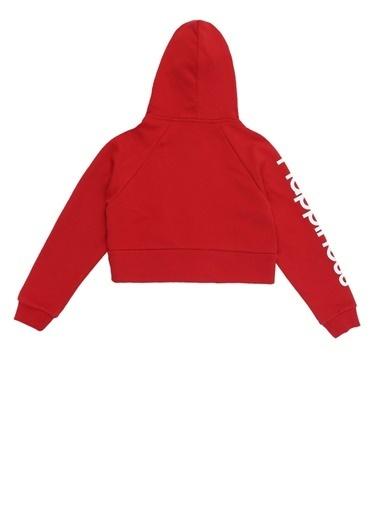 Happiness Sweatshirt Kırmızı